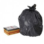 BLACK GARBAGE BAGS EXTRA HEAVY DUTY 82LTR